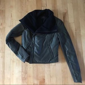 BCBGmaxazria puffer jacket asymmetrical zip